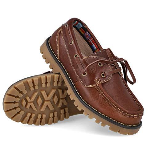 BUBBLE BOBBLE A767-2 Zapatos Nauticos NIÑO - Cuero para: NIÑO Color: Marron Talla: 34