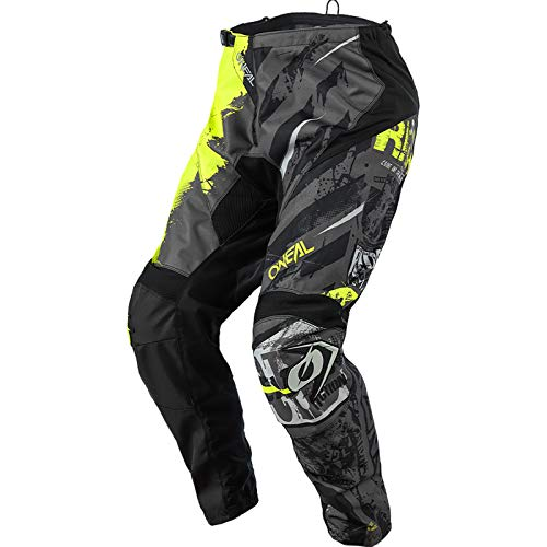 O'NEAL | Motocross-Hose | MX Mountainbike | Passform für Maximale Bewegungsfreiheit, Leichtes, Atmungsaktives & langlebiges Design | Pants Element Ride | Erwachsene | Schwarz Neon-Gelb | Größe 34/50