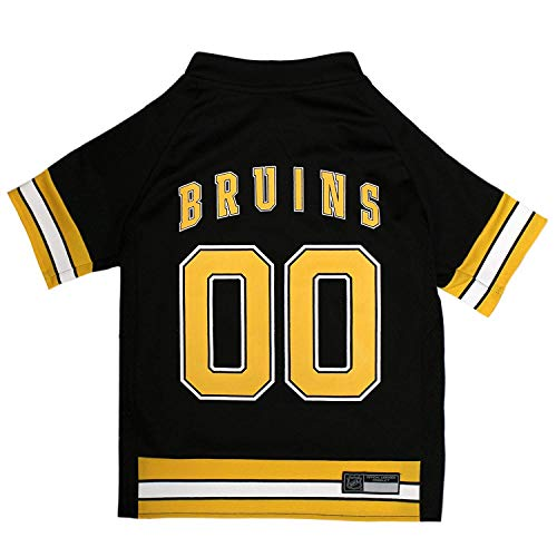 NHL Boston Bruins Jersey for Dogs & Cats, Medium. - Let Your Pet Be A Real NHL Fan!