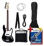 Rocktile Groovers - Pack bajo eléctrico JB, color negro