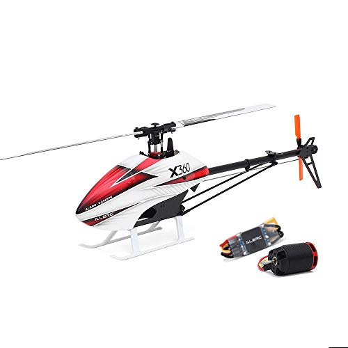 GoolRC ALZRC X360 FBL 6CH 3D Flying RC Helicopter Kit with 2525 Motor V4 50A Brushless ESC Standard Combo