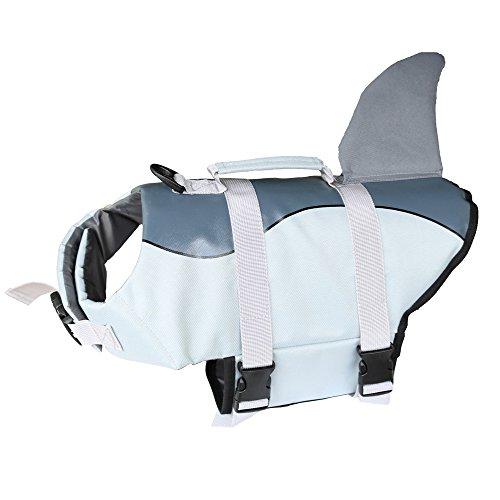 DaiShuGuaiGuai Schwimmweste Hund/Schwimmhilfe für Hunde/Hundeschwimmweste (Grau) (XS)