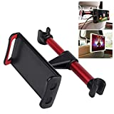 Cellet Car Backseat Headrest Tablet Phone Mount Holder Compatible with Smartphones Androids Tablets IPads and Other Devices Up to 8 Inches Wide