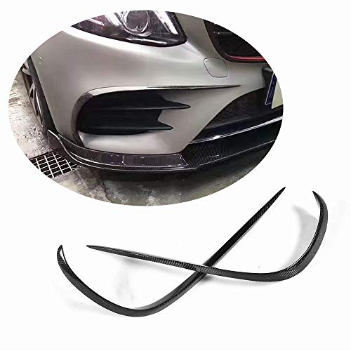 NINTE Front Lip for 2016-2019 W213 Benz E-Class Sport Models 3pcs ABS Painted Gloss Black B Style Front Bumper Spoiler
