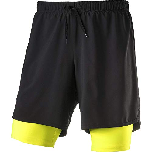 PRO TOUCH Allen III Shorts Homme Shorts Homme Schwarz/Safety FR : XL (Taille Fabricant : XL)