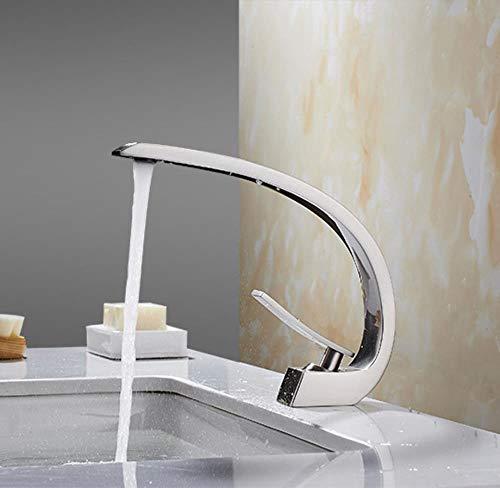 5151BuyWorld waterkraan, goudkleurig, geborsteld, waterkraan, wastafelkraan, nikkel, brons, zwart, chroom, geborsteld, mengkraan voor wastafels, kraan. Brushed