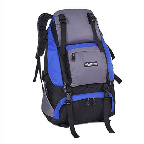 FEEE-ZC 40L Reiserucksack, wasserfester Stoff-Wanderrucksack, Dicker und starker schwarzer Laptop-Rucksack für Outdoor-Camping-Trekking-Touristen (53 cm * 37 cm * 15 cm)