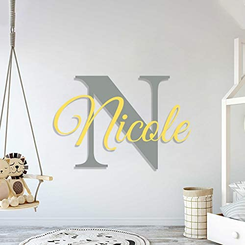 Multiple Font Custom Name Initial Nursery Wall Decal Mural Wall Decal Sticker for Home Children product image