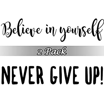 2 Sheets Vinyl Wall Quotes Stickers Believe in Yourself Inspirational Saying Home Decals Quote Vinyl Wall Quotes Gym Office School Classroom Teen Dorm Room Wall Decal