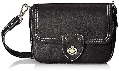 TOM TAILOR Umhängetasche Damen Jolanda, (Schwarz), 22x15x6.5 cm, TOM TAILOR Handtaschen, Taschen für Damen