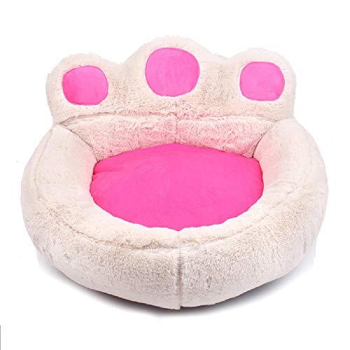 MXXQQ Bärentatze Flauschiges Haustierbett, Superweicher Baumwollplüsch Waschbarer Hund Katzenmattenauflage Haustiere Nistbetten,Abnehmbares Haustier-Schlafkissenbett für Kleintiere