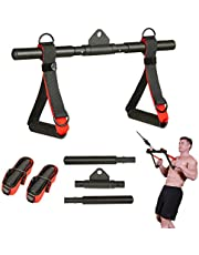 ZOVOTA Cable Machine Attachment Exercise Handle Pull Down Rowing Handle Weightlifting Accessory for Gym Home…