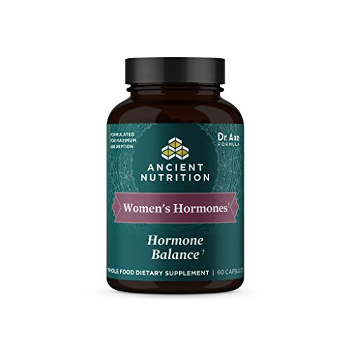 Ancient Nutrition Women's Hormones, Helps Reduce Stress, Supports Energy, Gluten Free, Paleo and Keto Friendly, 60 Capsules
