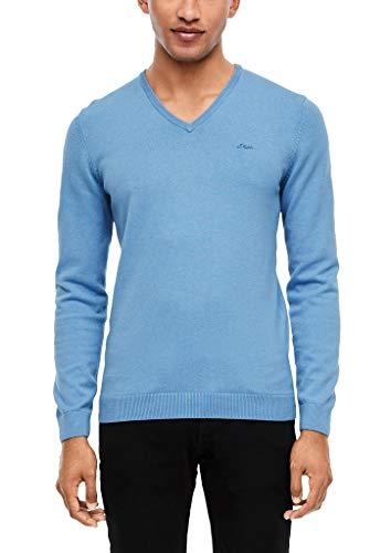 s.Oliver RED LABEL Herren Pullover mit V-Ausschnitt blue melange XL