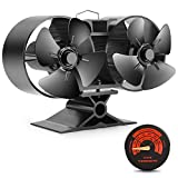 Mini Size 8 Blade Stove Fan – Silent, Heat Powered Wood/Log Burner Fan for Ultra Small Space- 30% Larger Than 4 Blades