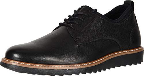 Dockers Mens Elon Leather Smart Series Dress Casual Oxford Shoe, Black, 13 M