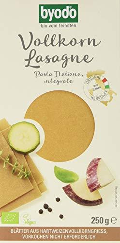 Byodo Vollkorn Lasagneplatten, 12er Pack (12x 250 g Packung) - Bio