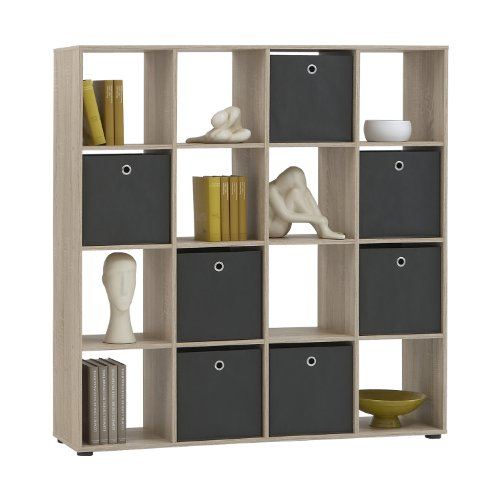 FMD Möbel Raumteiler Mega 6 | In Eiche | 138.5 x 143.5 x 33 cm | 248-006