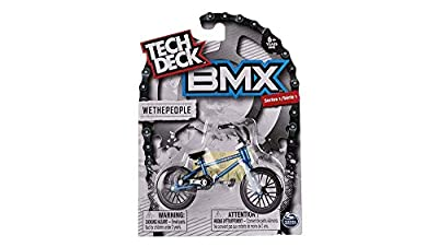 Tech Deck BMX Finger Bike Series 12-Replica Tech Deck Bike Real Metal Frame, Moveable Tech Deck Parts for Flick Tricks Finger Bike Games (Styles Vary)