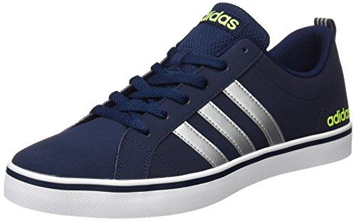 adidas Pace Vs, Zapatillas Unisex Adulto, Azul (Collegiate Navy/Matte Silver/Solar Yellow), 43 EU