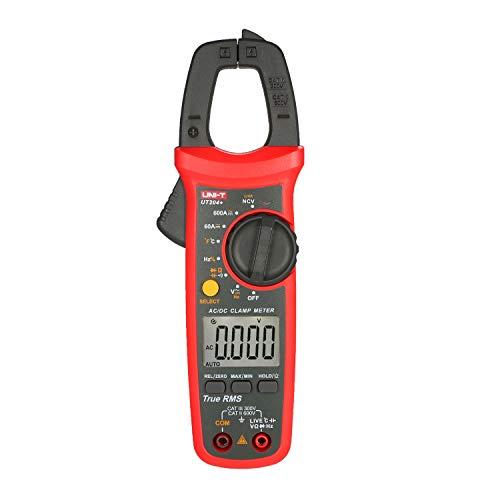 Fesjoy UT204 + 6000 Zählt Digitalzangen-Messgerät True RMS Multimeter Zangen-Amperemeter Spannungsmessgerät NCV-Test Universalzangen-Messgerät AC/DC-Stromzangen-Messgerät -40~1000 ℃
