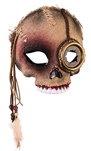 Voodoo Mens Skull Mask with Steampunk Eye
