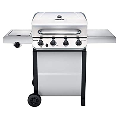 Char-Broil 463377319 Performance 4-Burner Cart Style Liquid Propane Gas Grill, Stainless Steel