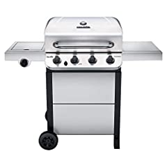Power Source: Propane/ liquid petroleum gas. The propane tank is not included. Exclusive Stainless Steel finish for increased style and durability Reliable electric ignition to fire up your grill and 10, 000 BTU side burner Porcelain-coated grease pa...