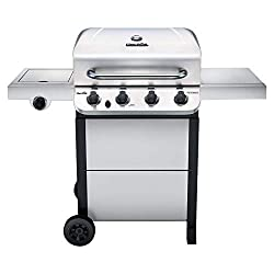 powerful Char-Broil 463377319 Power 4 Burner Liquid Propane Grill, Stainless Steel