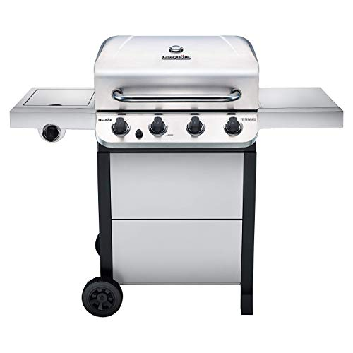 Char-Broil 463377319 Performance 4-Burner Cart Style Liquid Propane Gas Grill, Stainless...