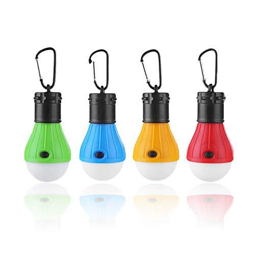 MOSTOP 4 Packungen Camping Zelt Laterne Lampe LED Zeltlichter Wasserdicht Tragbare Camping Glühbirne 3 Modi Notlicht für Camping, Wandern, Angeln, Indoor und Outdoor