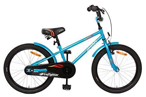 AMIGO Firefighter Kinderfahrräder Jungen 20 Zoll 24 cm Jungen Rücktrittbremse Blau