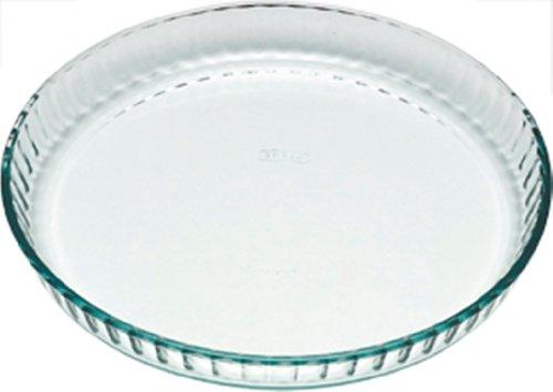 Pyrex 812B000/5046 Bake & Enjoy Runde Kuchenform aus ultrabeständigem Glas, farblos, 24 cm