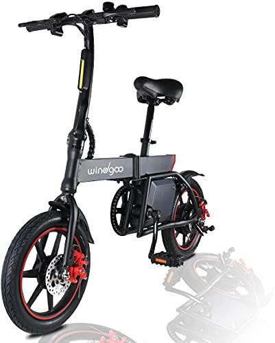 2021 Nouveau vélo électrique Adulte Pliable, vélo électrique de Banlieue Pliant de 14 Pouces, Moteur 350W, Batterie au Lithium 36V 6,0Ah, Vitesse maximale 25km/h, Freins à Disque Avant et arrière