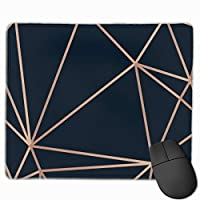 """Golden Lines Triangle On Dark Mouse Pad Non-Slip Rubber Gaming Mouse Pad Rectangle Mouse Pads for Computers Desktops Laptop 9.8"""" x 11.8"""""""