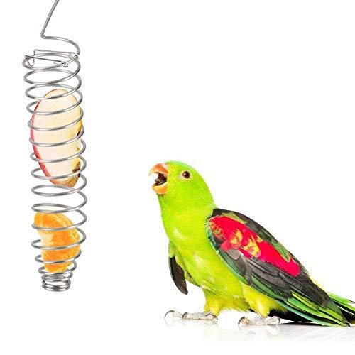 Papegaai Voedsel Mand Roestvrij Staal Vogels Fruit Plantaardige Houder Vogel Foraging Speelgoed voor Parakeet Cockatiel Conure Afrikaanse Grijs Cockatoo Macaw Amazon Lovebird Finch