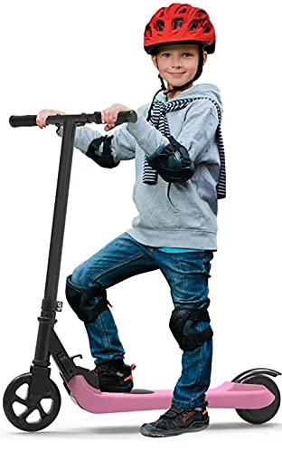 Riding'times Patinete eléctrico para niños, Kickscooter Plegable, hasta 7km/h, Alcance de 7 km, Motor 120W, Tiempo de Carga 2H, para niños y niñas de 5 a 12 años