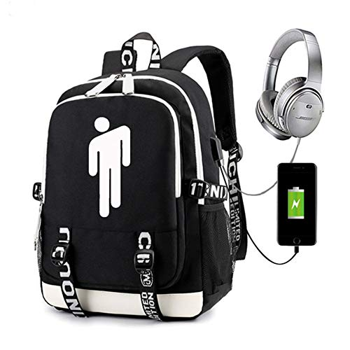 Backpack,Waterproof USB Charging Luminous and Scratch-Resistant Bookbag, Student School Bag with Outdoor Patterned for Teenage Boys Girls Tech Bookbag