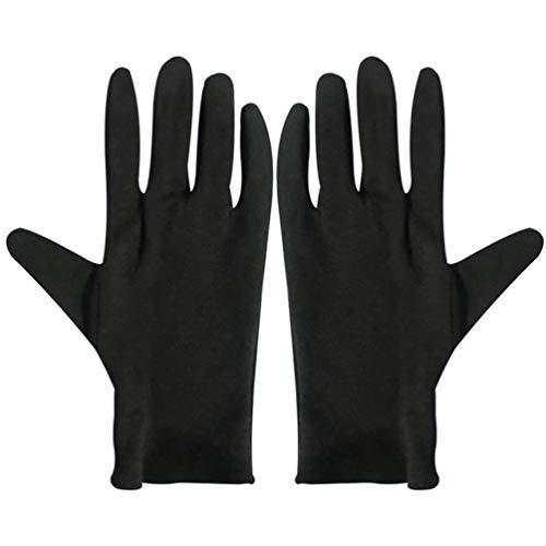 Beaupretty Feuchtigkeitsspendende Ekzem-Baumwollhandschuhe 12 Paar Schwarze Baumwollhandschuhe für Trockene Hände Spa-Lotionshandschuhe Kosmetikhandschuhe S