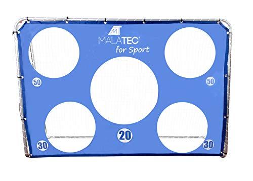MT MALATEC Fußball-Tor für Kinder & Erwachsene mit/ohne Torwand 215x150x70cm 10314, Farbe:mit Torwand