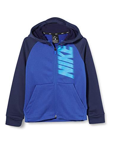Nike Jungen B NK Dry Fleece FZ GFX Sweatshirt, Game royal/Midnight Navy/(Laser Blue), M