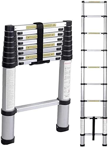 Multibao Ladders 8.5Ft 2.6M Extendable Aluminium Telescopic Folding...