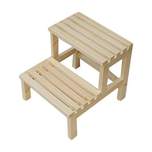 Z-H Massief hout ladder kruk het veranderen van zijn schoenen kruk multifunctionele huis gang dubbele trap eenvoudige stap kruk
