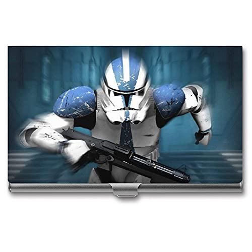 Fantasy Movie Baby Yoda Star The Wars Mandalorian - Tarjetero para tarjetas de visita (aluminio), diseño de estrella de la guerra