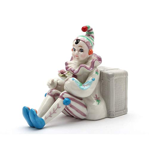 Cosmos Gifts 20932 Clown Sit by Luggage Music Box, Brown