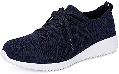 (Hojert)-004 Zapatillas Sin Cordones para Mujer,Slip On,Tenis para,Zapatillas De Running para Adulto,Zapatillas De Entrenamiento para