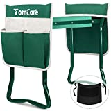 TomCare Upgraded Garden Kneeler Seat Widen Soft Kneeling Pad Garden Tools Stools Garden Bench with 2 Large Tool Pouches Outdoor Foldable Sturdy Gardening Tools for Gardeners, Green