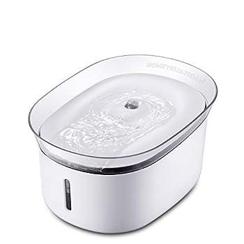 honeyguaridan W18 Fontaine à Eau Automatique pour Animaux Domestiques, Distributeur d'eau pour Chiens et Chats,2L