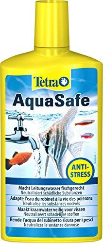 Tetra AquaSafe, Rende l'Acqua del Rubinetto Sicura, Neutralizza le Sostanze Dannose per i Pesci - 500 ml