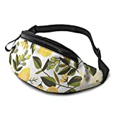XCNGG Bolso de la cintura del ocio bolso que acampa bolso del montañismo Lemon Print Fanny Packs for Women and Men Waist Bag Adjustable Belt for Outdoors Workout,Traveling,Casual Running,Hiking,Cyclin